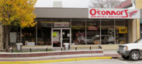 oconnors shoes storefront in downtown greenville michigan