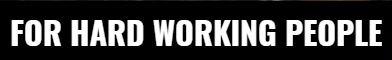 hard working footwear for hard working people logo